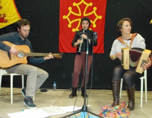 """Après """"Dab Agathe"""", le trio improvisé Wilfried-Jlouis-Agathe."""